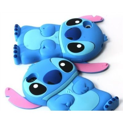 Disney 3d Stitch Movable Ear Flip Hard Case Cover