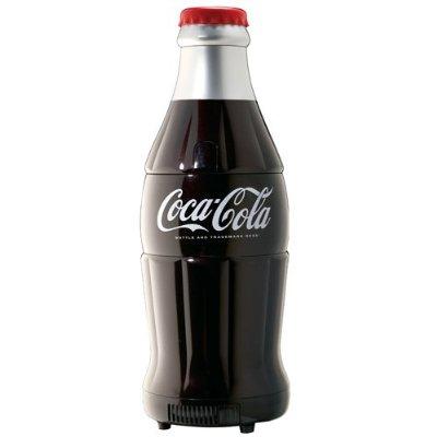 Coca-Cola 15-Can-Capacity Bottle-Shaped Fridge