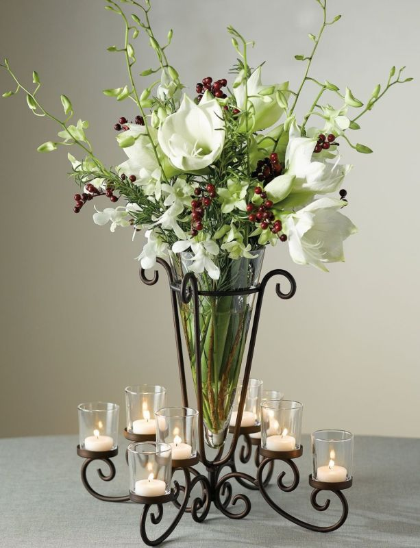 Tealight Holder With Vase