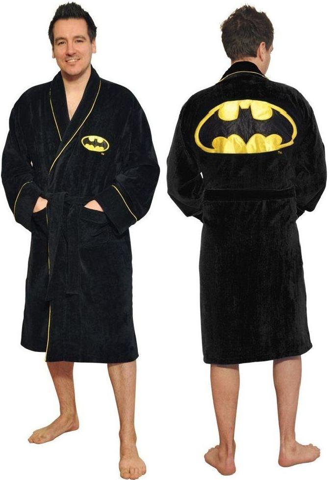 DC Comics Men's Batman Fleece Bathrobe