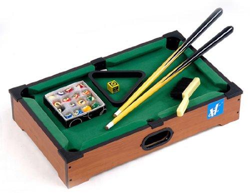 """21"""" Mini Tabletop Pool Table Wood Billiards Set"""