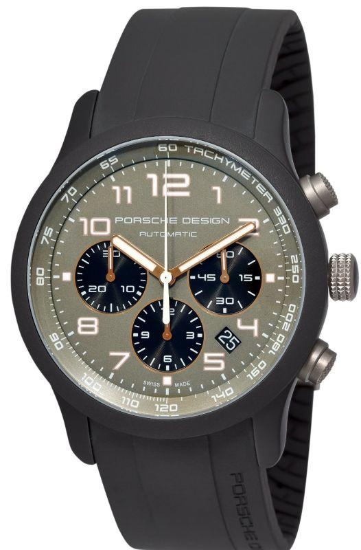 Porsche Design Men's 6612.17.56.1139 Dashboard P'6612 Titanium and Aluminum Green Dial Watch