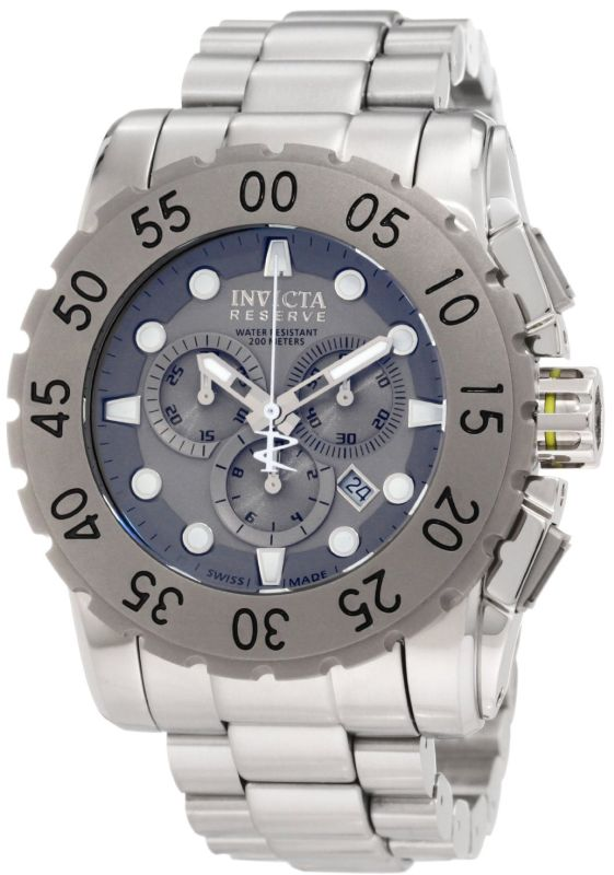 Invicta Men's 1959 Reserve Chronograph Grey Dial Stainless Steel Watch