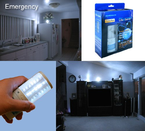 Battery1inc Lite-Saver 3 in 1 Rechargeable Emergency Power
