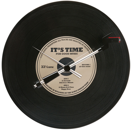 SPINNING RECORD OLDIES WALL CLOCK