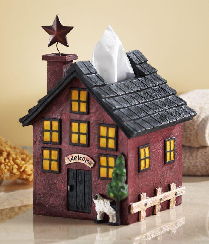Country Home Primitive Bath Tissue Cover