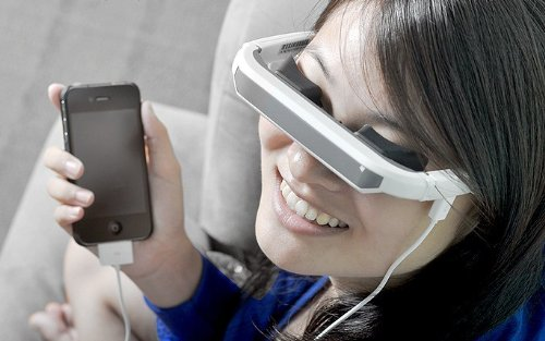 "72"" Portable virtual screen display Video Glasses Eyewear For iphone ipad device"