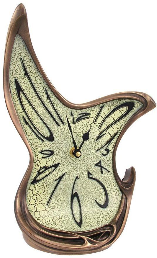 Whimsical Melting Mantel Clock Bronze Finish Dali-esque