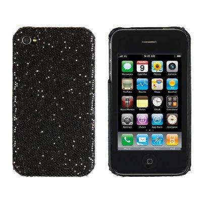 Black Sparkles Case for Apple iPhone 4, 4S