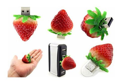High Quality 16 GB Food Strawberry USB Flash drive