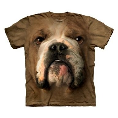 Bulldog Face Mens T-shirt