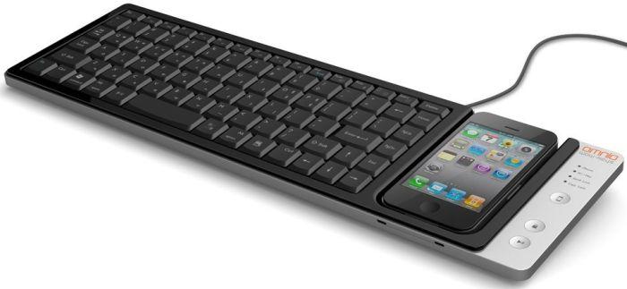Omnio WOW-KEYS Full-sized, QWERTY PC or MAC Keyboard for iPhone