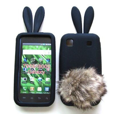 Bunny Skin Case With Furry Tail for Samsung Galaxy S 4G