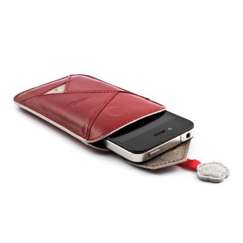 Kenzo Leather Origami Case Cover Sleeve Pouch for Apple iPhone 4S