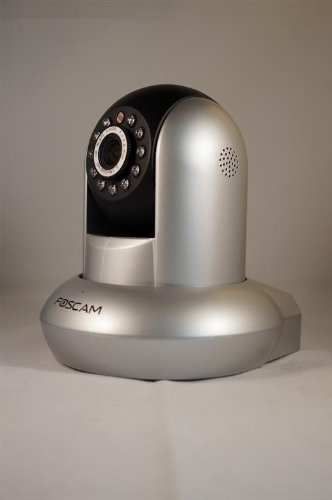 Wireless/Wired Pan & Tilt IP/Network Camera with 8 Meter Night Vision and 3.6mm Lens