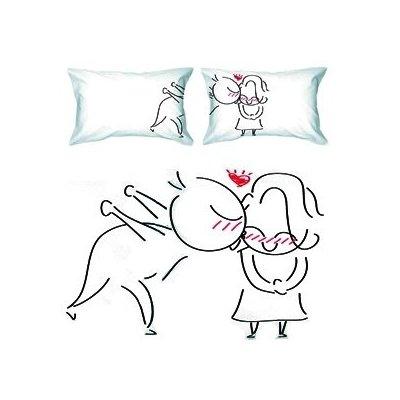 """A Big Kiss"" Couple Pillowcases-Romantic"