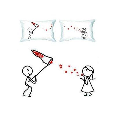 """Catch My Love"" Couple Pillowcases"
