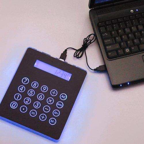 Black USB Mousepad Calculator Hub