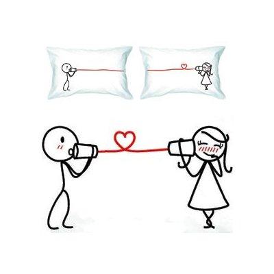 """Say I Love You"" Couple Pillowcases"