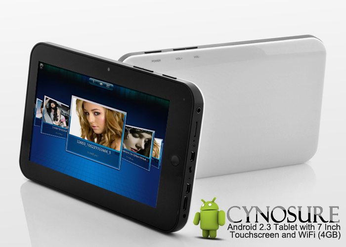 Android 2.3 Tablet with 7 Inch Touchscreen and WiFi