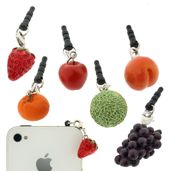 Charm Apli Fruit Earphone Jack Accessory