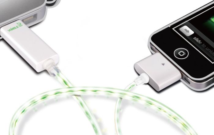 Visible Green Smart Charge & Sync Cable