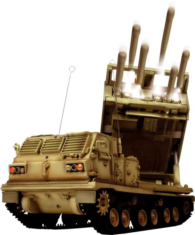 "Radio Controlled 1:24th Scale ""MLRS Multiple Launch Rocket System"