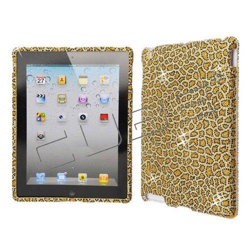 Leopard CRYSTAL RHINESTONE DIAMOND BLING COVER CASE 4 Apple iPad 2 2nd