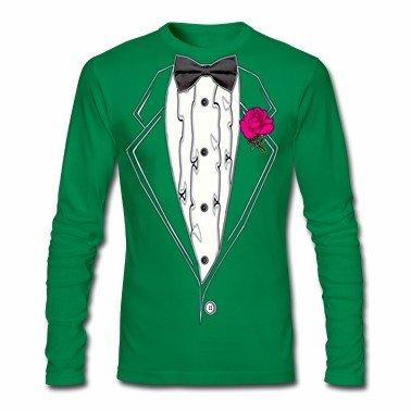 St. Patrick's Day Long Sleeve Tuxedo T-Shirt