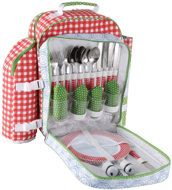 Picnic Backpack with Blanket and Utensils