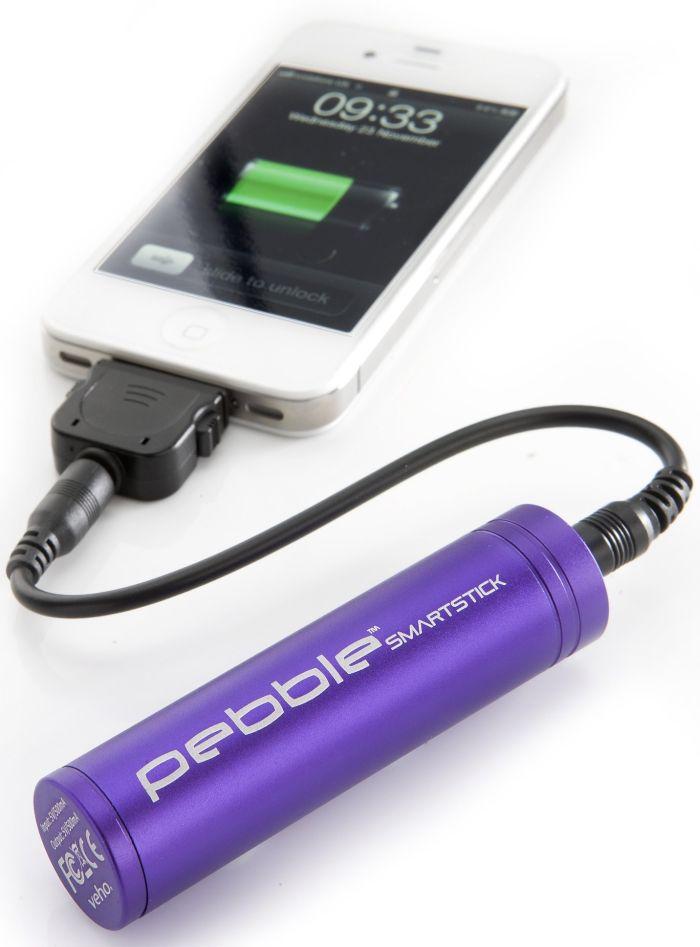 Pebble Smartstick Emergency 2200mAh Portable Battery