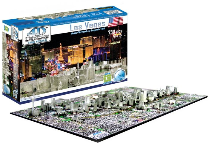 4D Las Vegas Skyline Time Puzzle