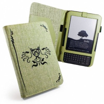 Eco-nique Natural Hemp Pistachio Green Case Cover For Amazon Kindle Keyboard / Kindle 3