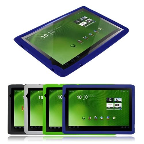 Premium 4 color Silicone Skin Case ( Black/Blue/Clear/Green) For Acer Iconia Tab A500