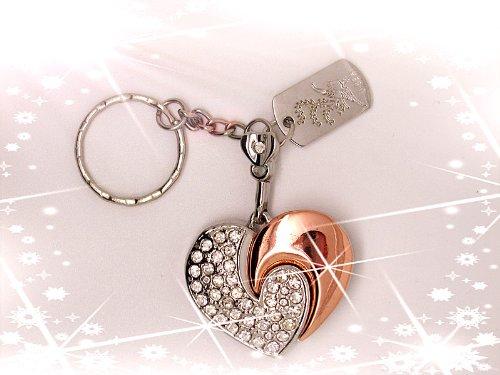 16 GB Heart Crystal Jewelry USB
