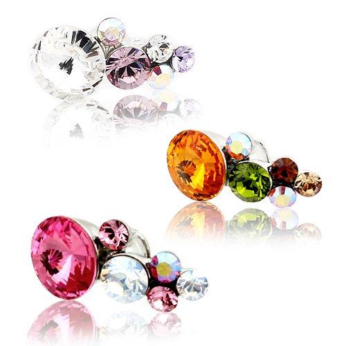 Swarovski Crystal Garden (Crystal Lavender) Earphone / Headphone Plug for Kindle Fire, iPhones, iPads, Galaxy S