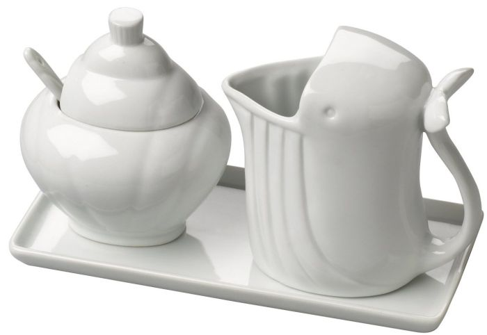 Cream and sugar serving set Made of beautiful and durable porcelain
