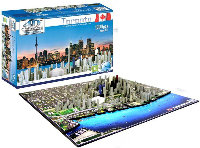 4D Toronto Cityscape Time Puzzle