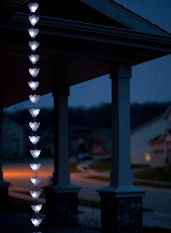Solar Rain Chain Clear Cups/ Clear Lights