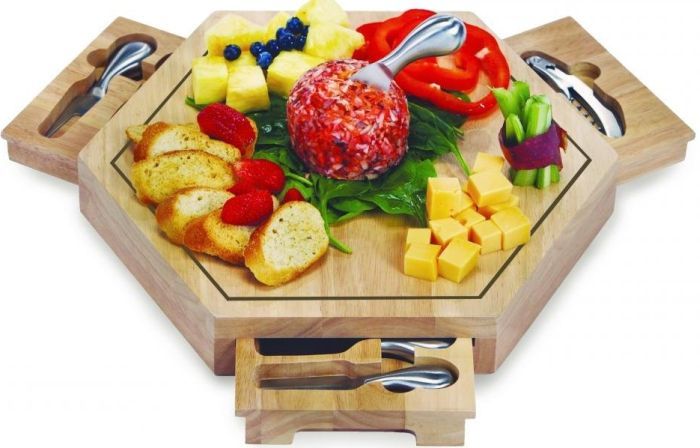 Picnic Plus Bergamo Cheese Board Wood