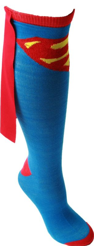 Superman Knee High Cape Sock