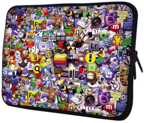 13 inch Application Icon Wallpaper Notebook Laptop Sleeve