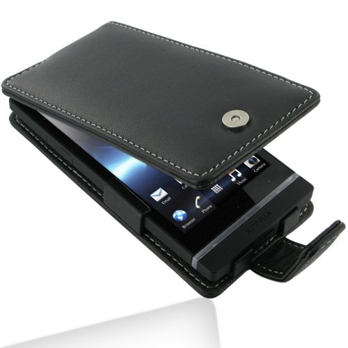 PDair Leather Case for Sony Xperia S - Flip Type