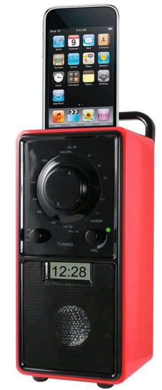 Hip Street HS-IPODSP425R iPod Clock Radio