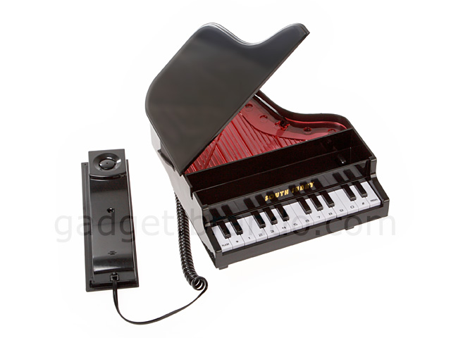 Elegant Piano Telephone with LED