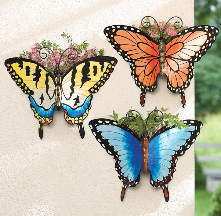 Butterfly Garden Wall Pocket Planters
