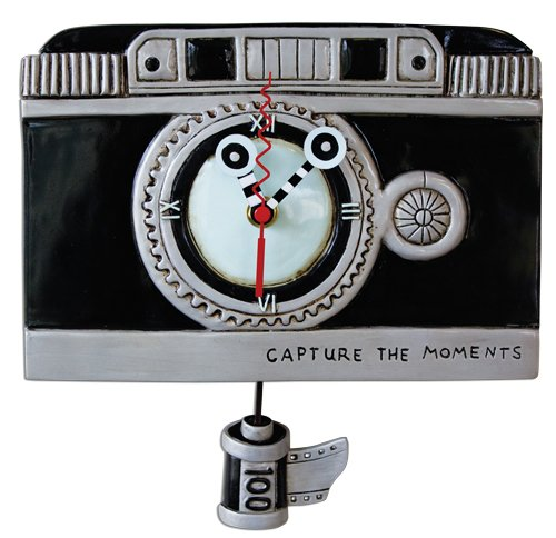 Allen Designs Vintage Camera Pendulum Clock