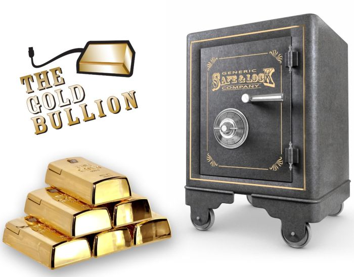 Gold Bullion Shaped Mouse Wired
