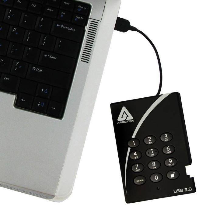 1 TB USB 3.0 256-bit AES XTS Hardware Encrypted Portable External Hard Drive