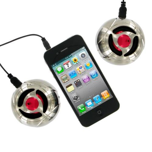 Stereo Portable Mini Speakers with Metal Coating